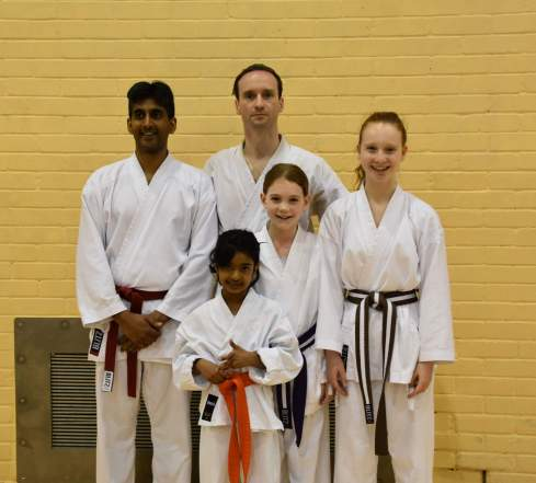 Senshi Karate students on the spring course. Photo courtesy of KUGB.