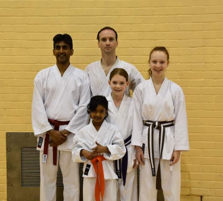 Senshi Karate students on the spring course. Photo courtesy of KUGB.