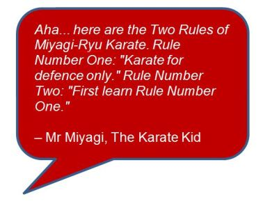 Quote Karate Kid