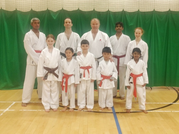 Senshi Karate students with Sensei Frank Brennan