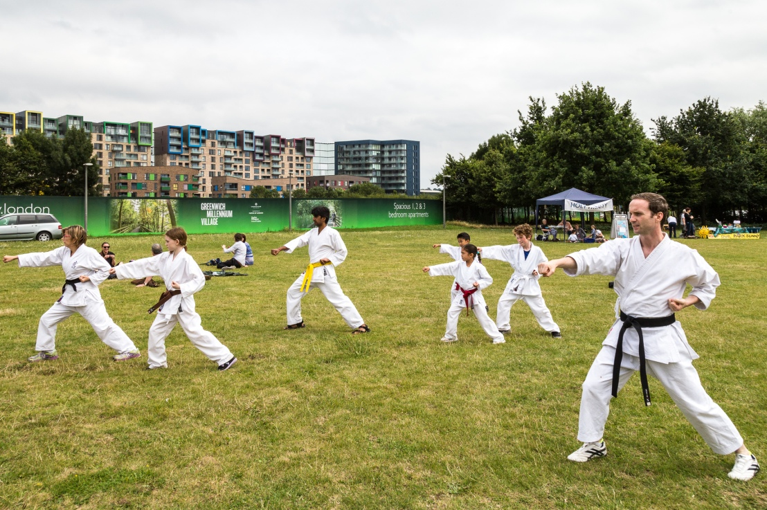 Karate demo at GMV Summer Fayre, 15 July2017