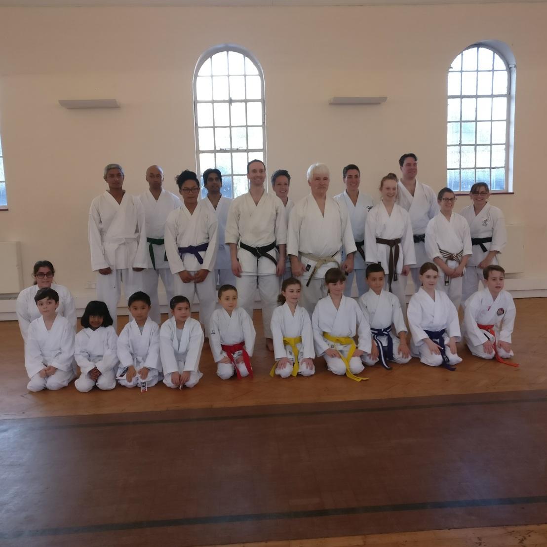 Training & grading with Sensei Bob Rhodes, 28 January2017