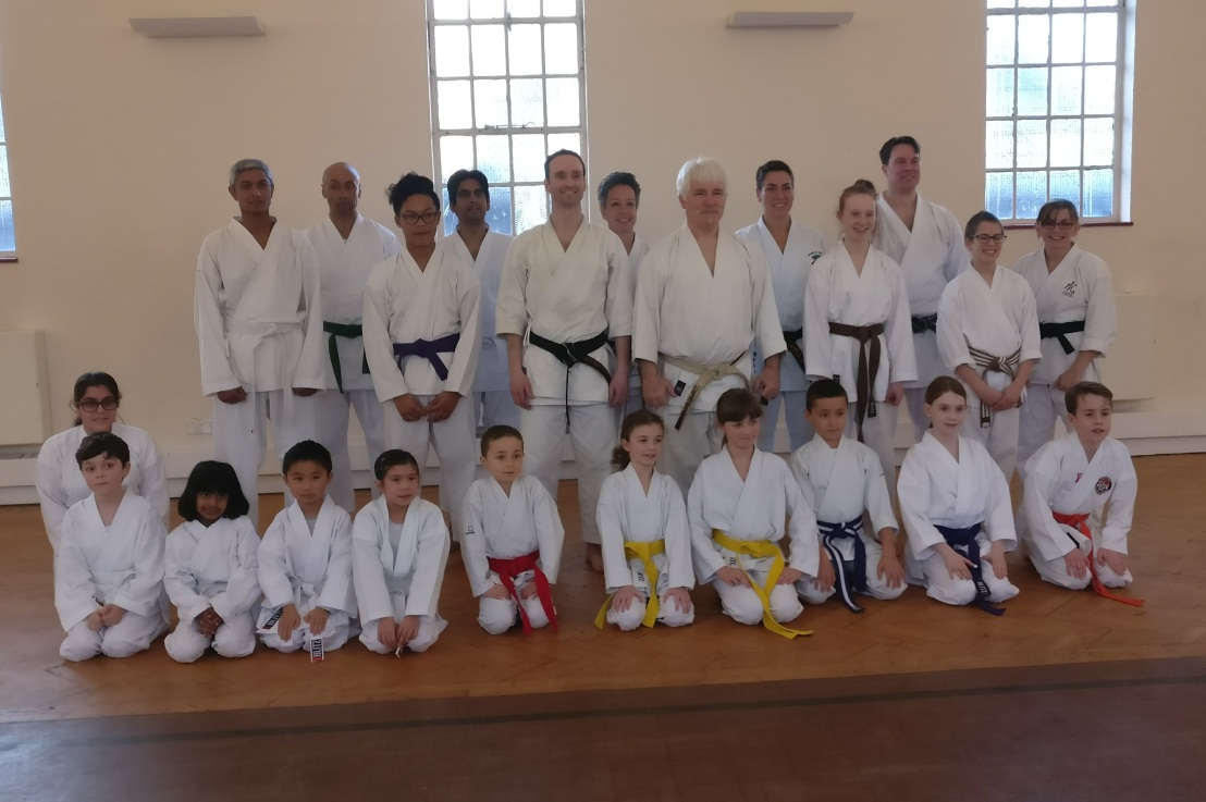 Training & grading with Sensei Bob Rhodes, 28 January 2017