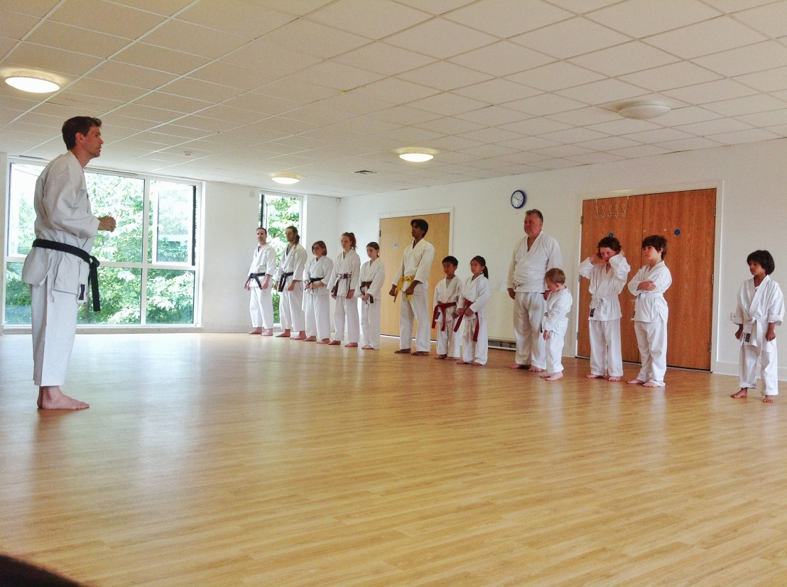 Senshi Karate class with Sensei Neil 29 July 2017