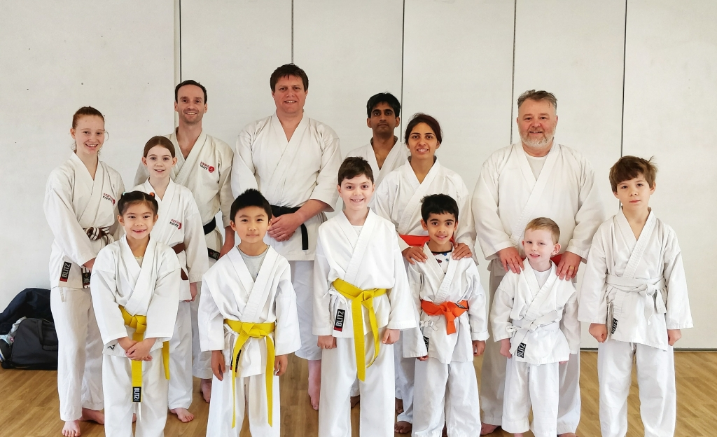 Sensei Mike Barker with Senshi students