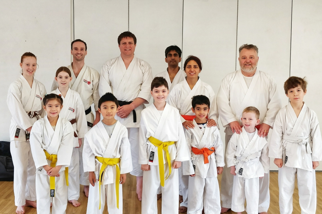Training with Sensei Mike Barker, 18 November 2017