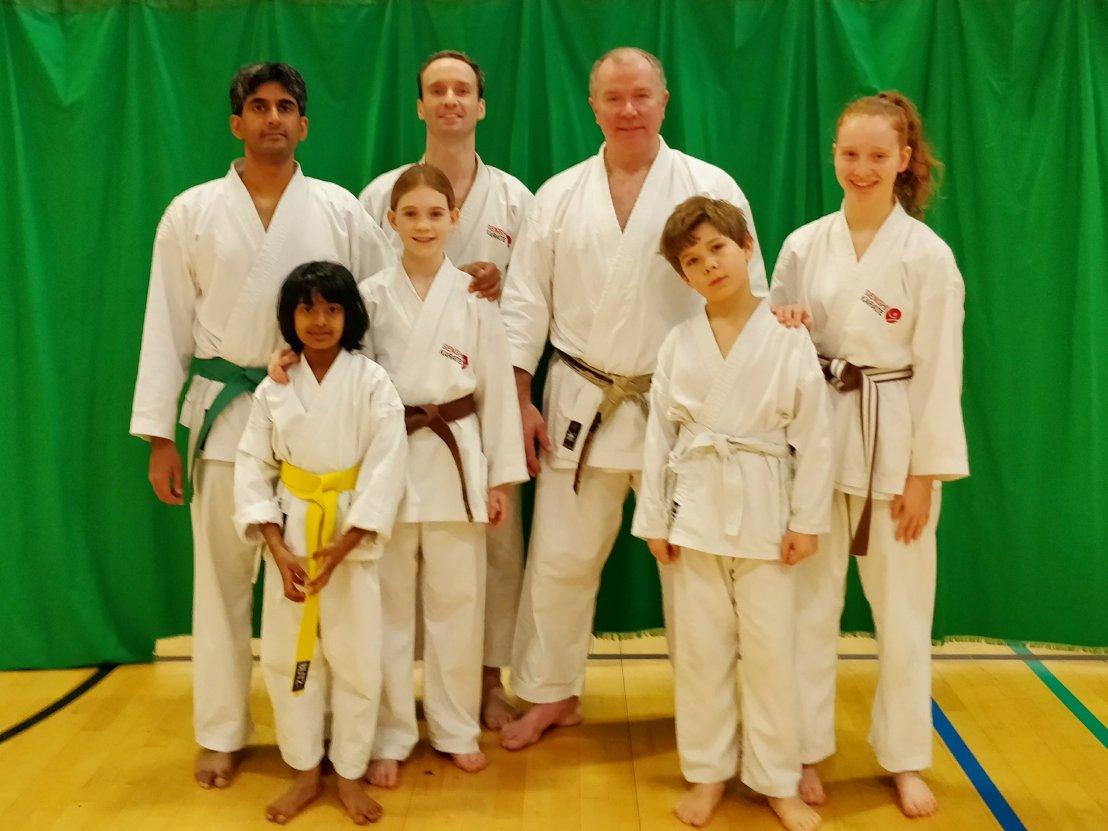 Sensei Frank Brennan with Senshi Karate members