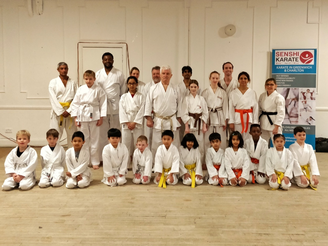 Training & grading with Sensei Bob Rhodes, 21 February 2018