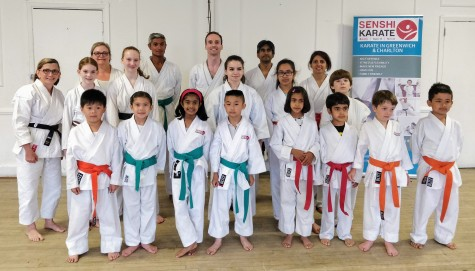Sensei Cristina with Senshi Karate students