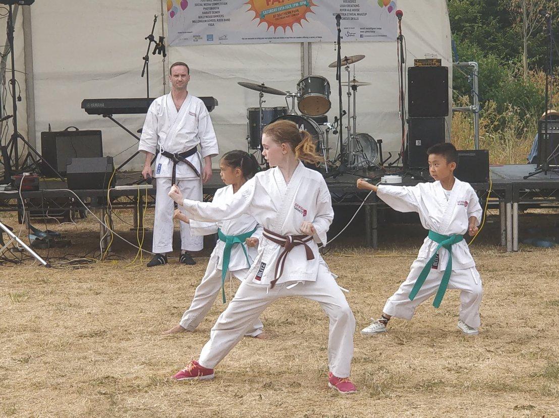 Karate demo at GMV Summer Fayre, 14 July2018
