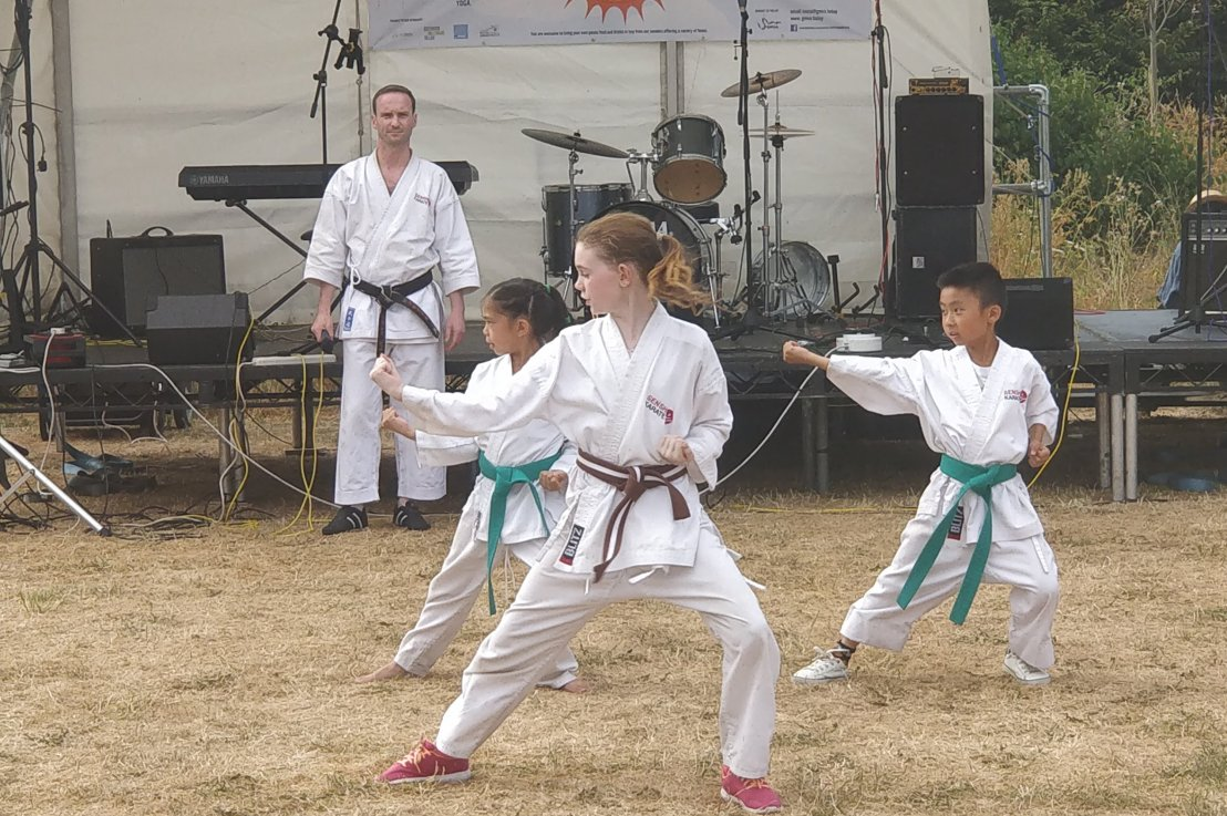 Karate demo at GMV Summer Fayre, 14 July 2018