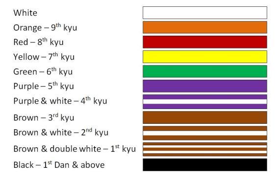 Belt colours