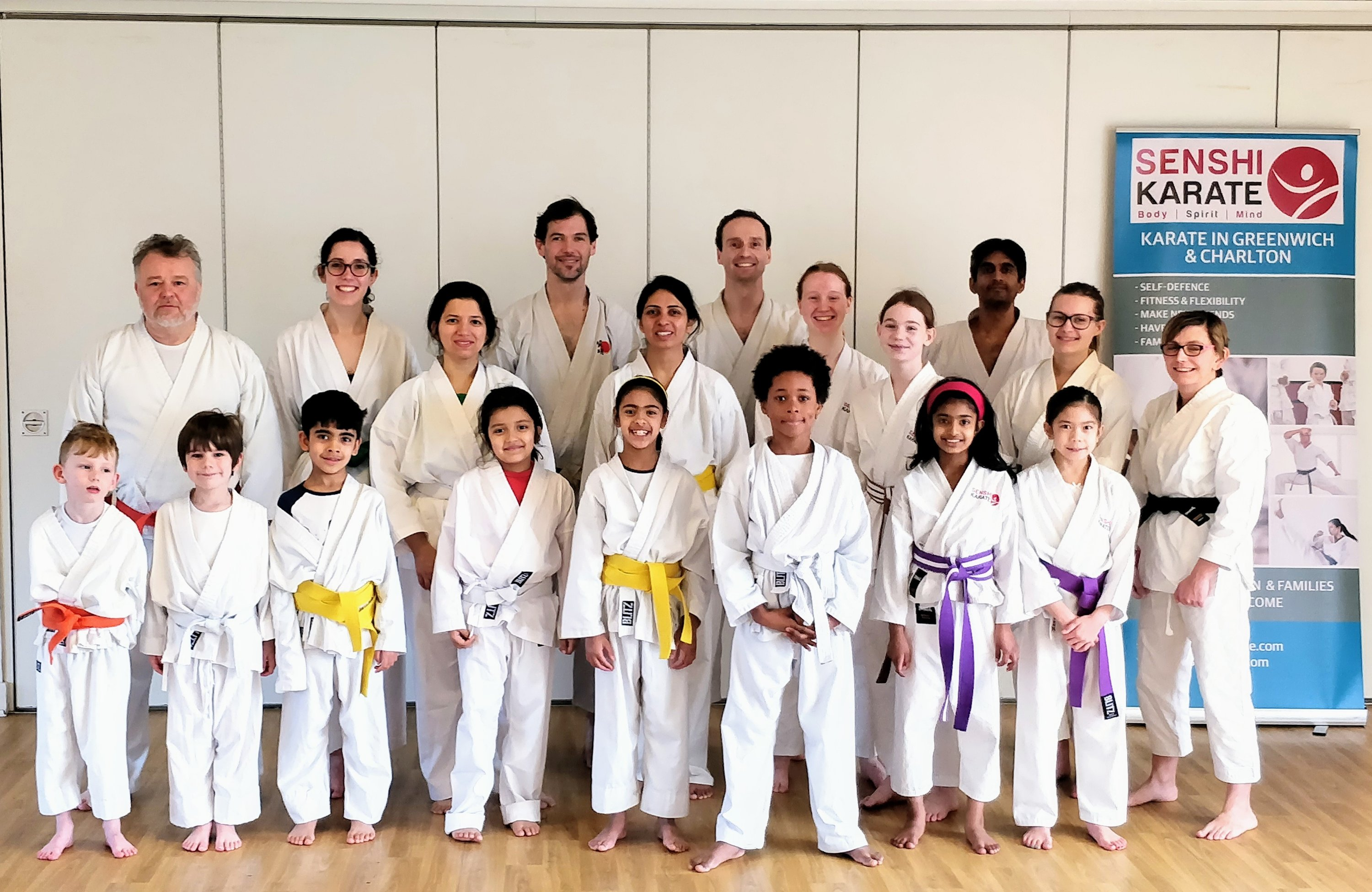 Senshi Karate students with guest instructor Sensei Neil Jerome 5th Dan