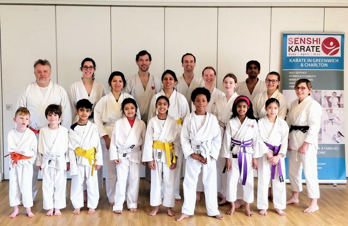 Senshi Karate students with guest instructor Sensei Neil Jerome 5th Dan