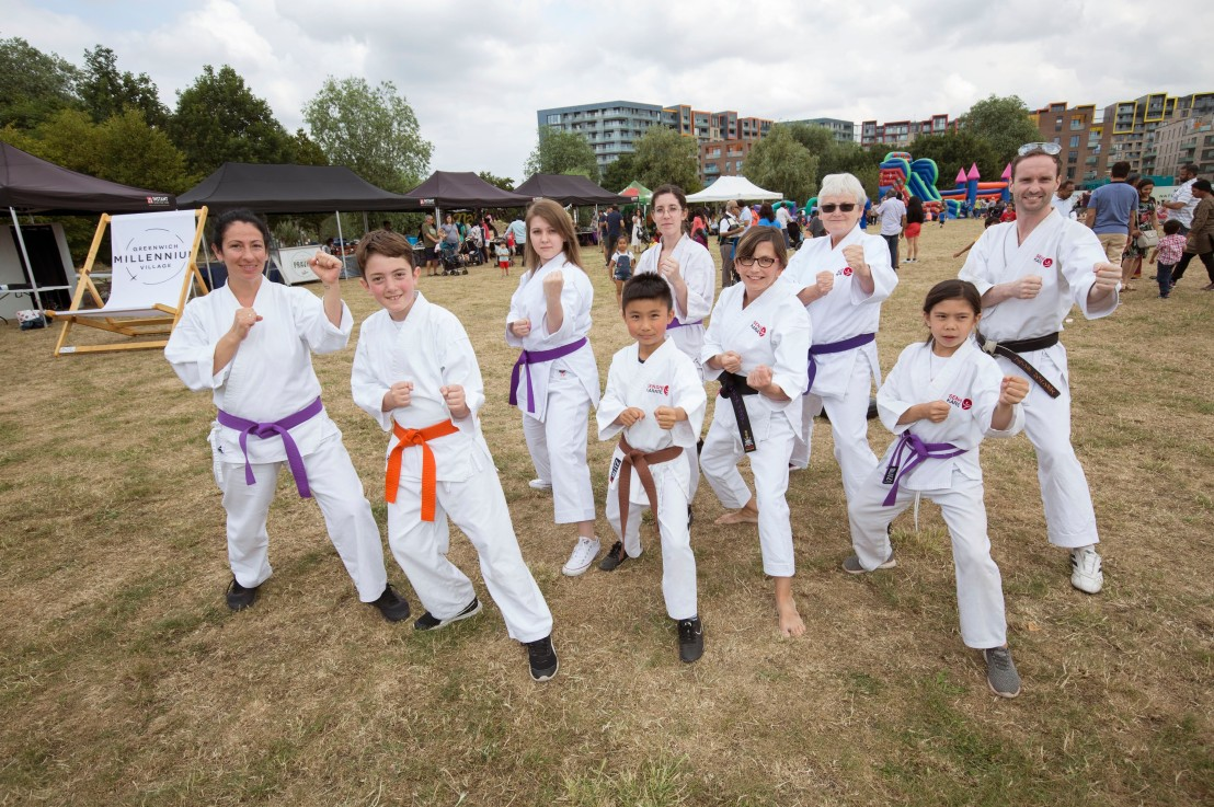 Karate demo at GMV Summer Fayre, 13 July 2019