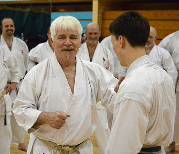 Training & grading with Sensei Bob Rhodes, 27 January 2021